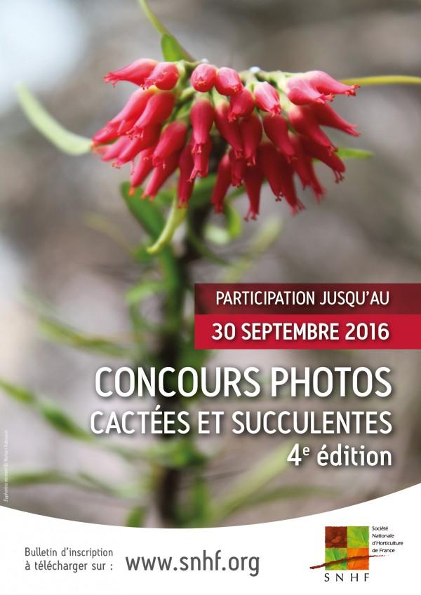 Affiche concours photos cactées et succulentes